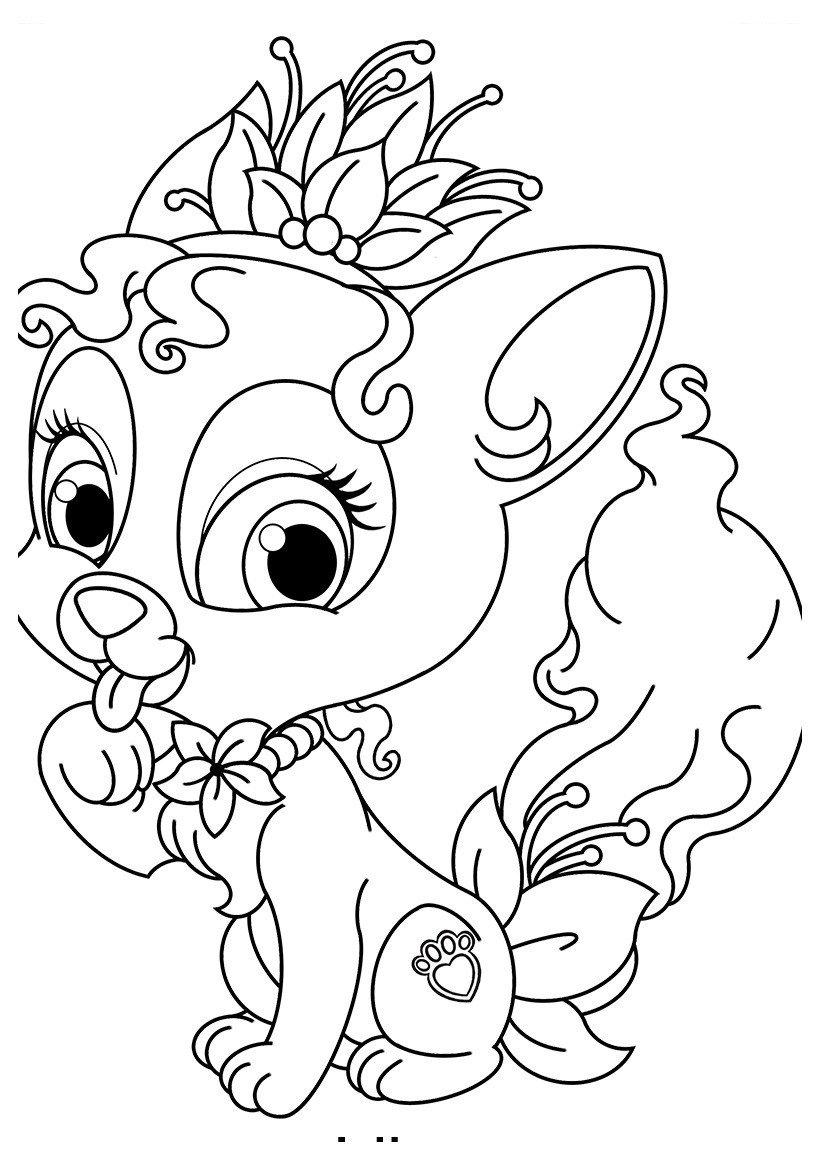 Раскраска Питомец Тианы котёнок Лили