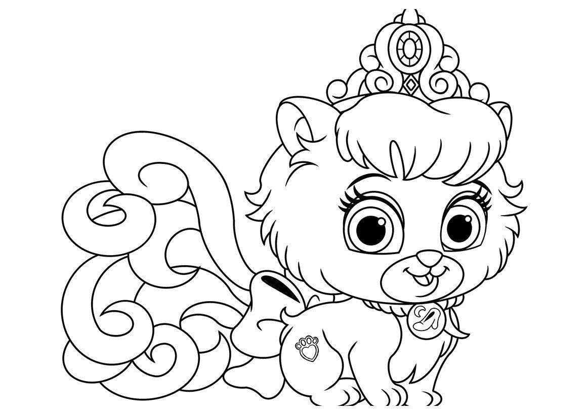 Раскраска Питомец Золушки котёнок Туфелька