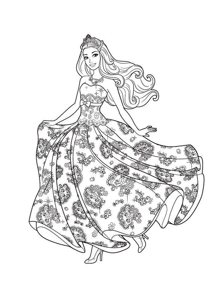 Раскраска Платье Барби