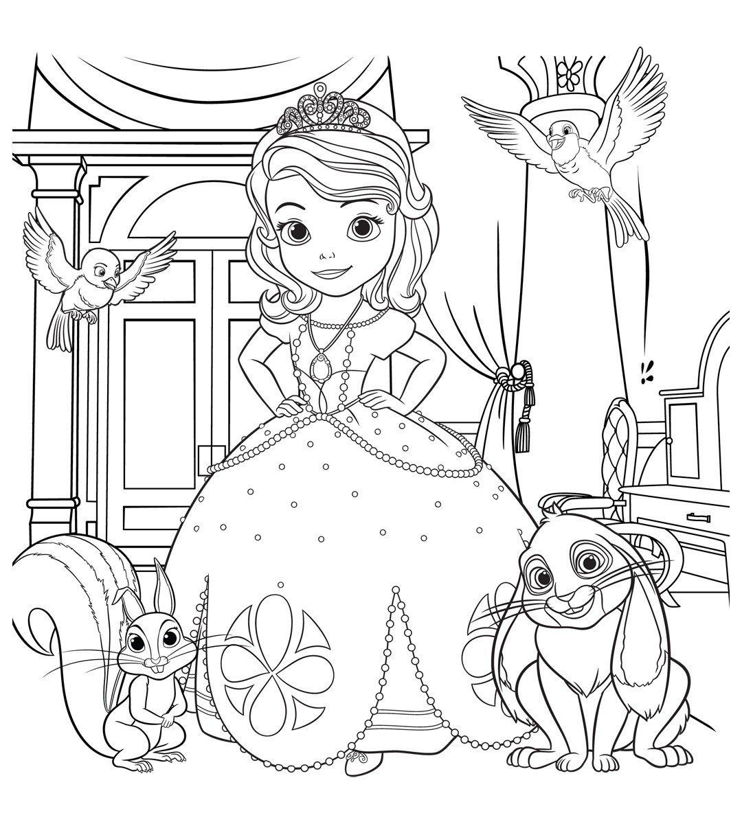 раскраски принцессы в красивых платьях распечатать