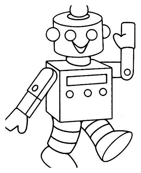 Раскраска Робот шагает