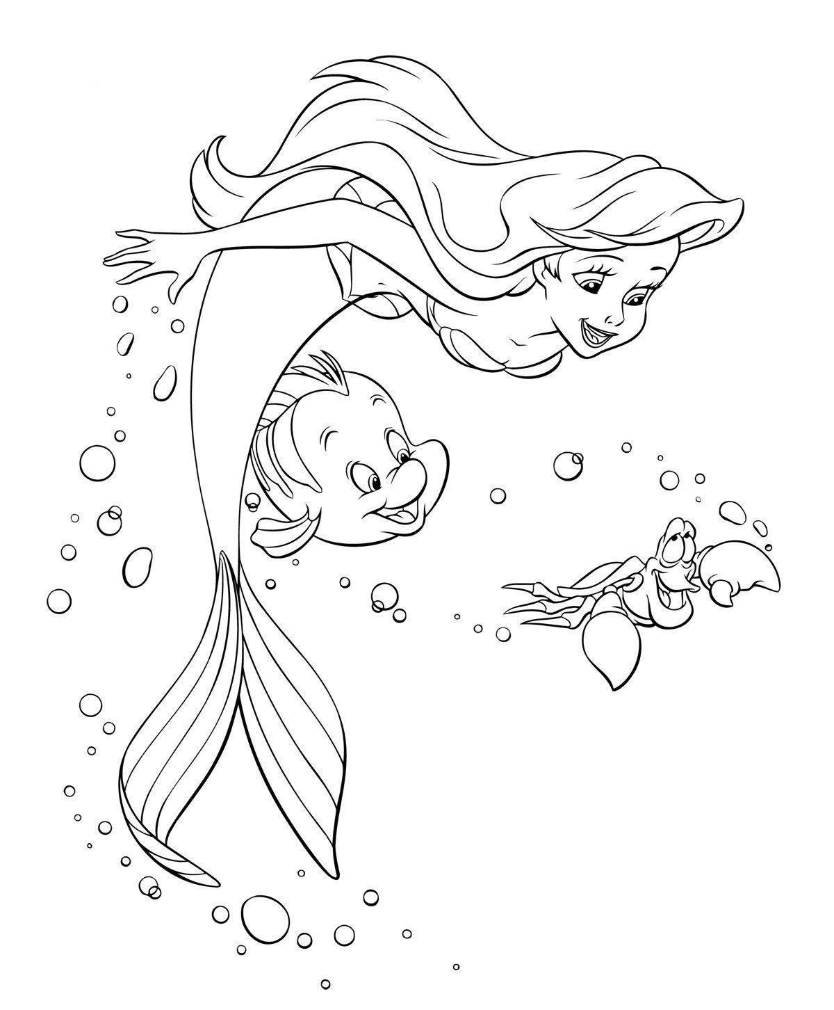раскраски русалочка ариэль распечатать бесплатно в формате а4
