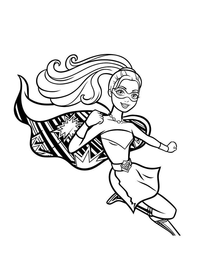 Раскраска Сила принцессы Барби