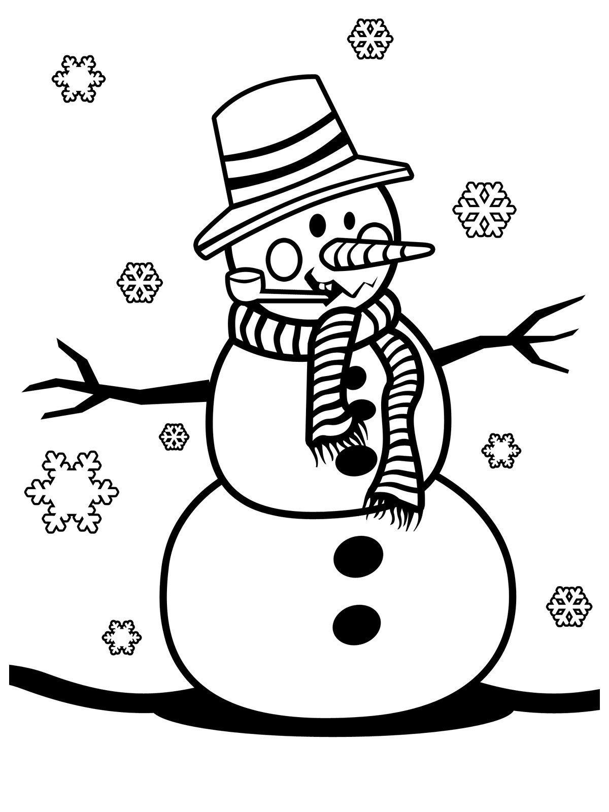 Нарисовать картинки на новый год снеговик, днем