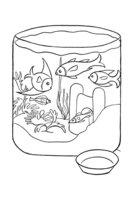 Раскраска Аквариум с рыбками
