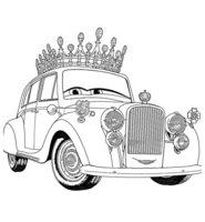 Раскраска Английская Королева