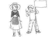 Раскраска Английские дети