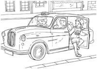 Раскраска Английское такси