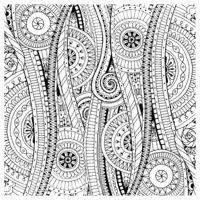 Раскраска Антистресс Дудлы с цветами и орнаментом