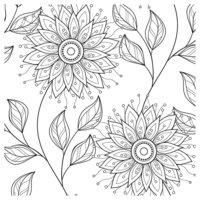 Раскраска Антистресс Крупные цветы