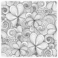 Раскраска Антистресс Орнамент Пейсли садовый