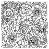 Раскраска Антистресс Ретро цветы