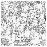 Раскраска Антистресс Снеговики