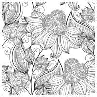 Раскраска Антистресс Цветочный сад
