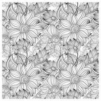Раскраска Антистресс Цветы и лепестки