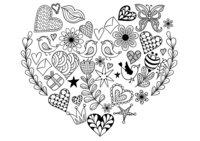 Раскраска Арт-терапия День Валентина