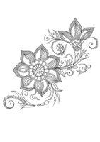 Раскраска Арт-терапия Индийские цветы