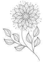 Раскраска Арт-терапия Изящный цветок