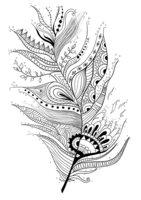 Раскраска Арт-терапия Капли и перо