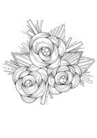 Раскраска Арт-терапия Плетеные цветы