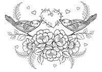 Раскраска Арт-терапия Птичье гнездо
