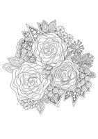 Раскраска Арт-терапия Три розы