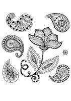 Раскраска Арт-терапия Цветок и узоры