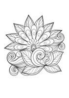 Раскраска Арт-терапия Водная лилия