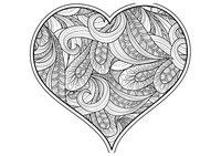 Раскраска Арт-терапия Зентангл сердце