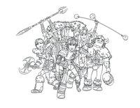 Раскраска Астрид, Иккинг и викинги