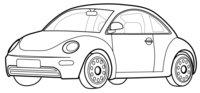 Раскраска Автомобиль