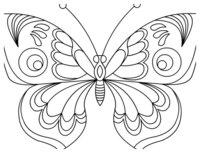 Раскраска Бабочка с большими крыльями