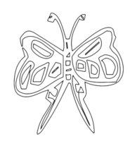 Раскраска Бабочка с длинными крыльями