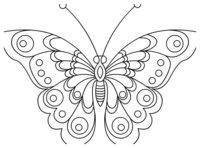 Раскраска Бабочка с фигурными рисунками