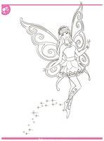 Раскраска Барби фея