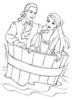 Раскраска Барби с Кеном