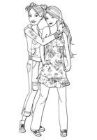 Раскраска Барби с любимой подружкой