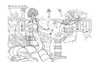 Раскраска Барби защищает трон Океании