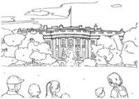 Раскраска Белый дом
