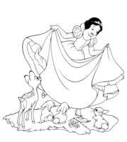 Раскраска Белоснежка и зайчата