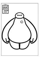 Раскраска Бэймакс - надувной робот