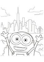 Раскраска Боб в Нью Йорке