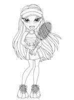 Раскраска Братц играет в тенис