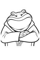Раскраска Буфо - лягушка-бизнесмен