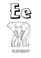 Раскраска Буква E английского алфавита