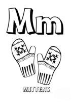 Раскраска Буква M английского алфавита