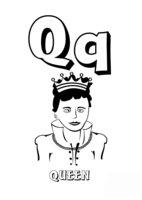 Раскраска Буква Q английского алфавита