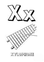 Раскраска Буква X английского алфавита