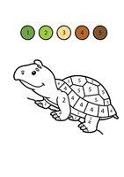 Раскраска Черепаха по цифрам
