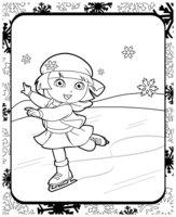 Раскраска Даша-путешественница на коньках